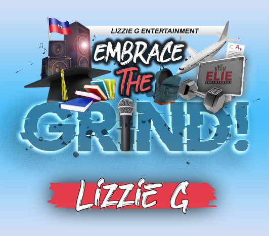 LIZZIE G EMBRACE THE GRIND ALBUM FRONT COVER 4 no streaming icons